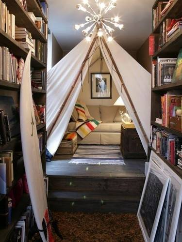sofa reading nook