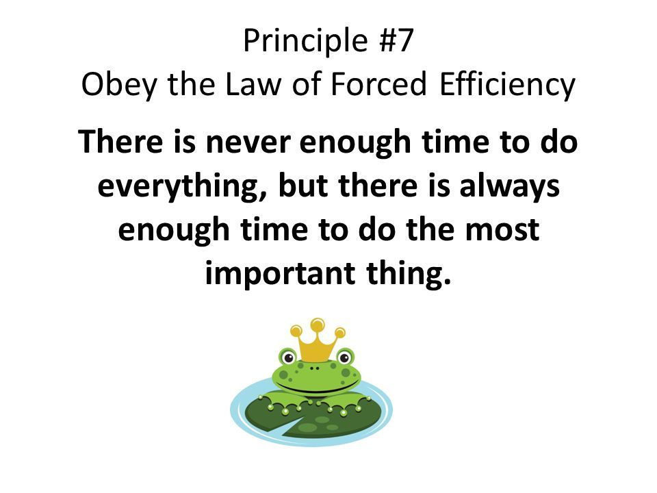 law of forced efficiency