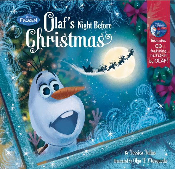 olafs night before christmas book cd - Night Before Christmas Book