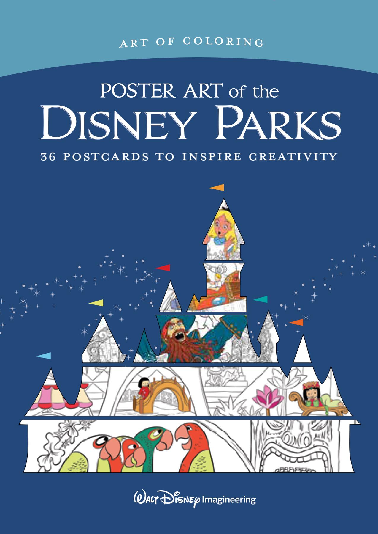 Art Of Coloring Poster Art Of The Disney Parks Disney Books Disney Publishing Worldwide