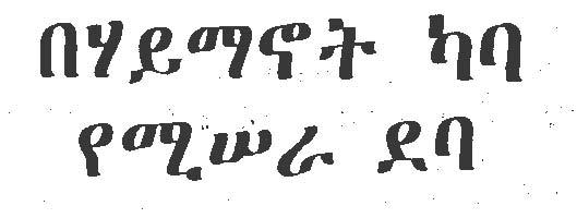 Good Amharic Fiction