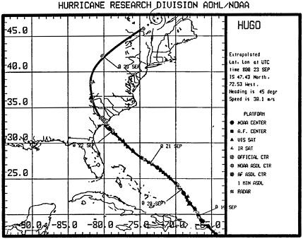 Hurricane Hugo, Puerto Rico, the Virgin Islands, and