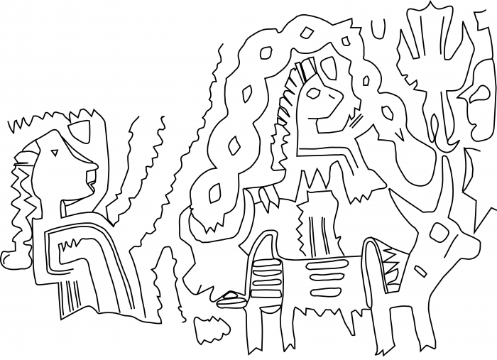 Fig.11–Drawing of a fragmentary ancient impression of a cylinder seal impression.