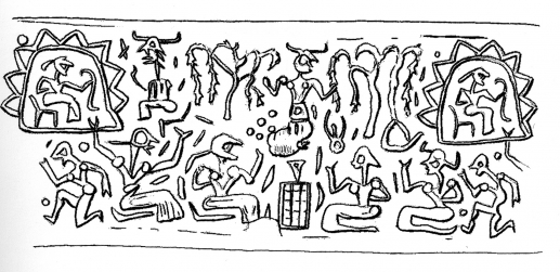 Fig.12–Drawing of a modern impression of a cylinder seal.