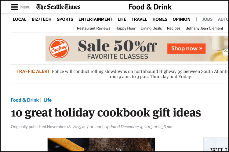 Seattle Times 2015 Cookbook Gifts Recommendation