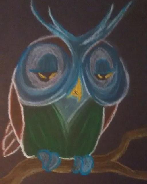 An owl I drew recently.