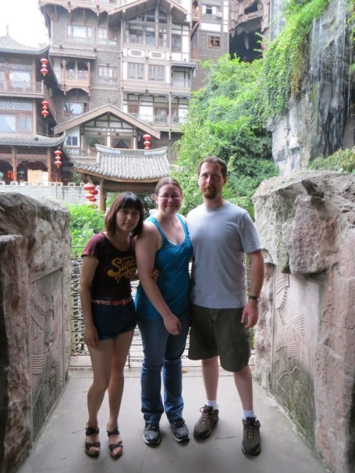 China 2012, my husband and I with Lee.