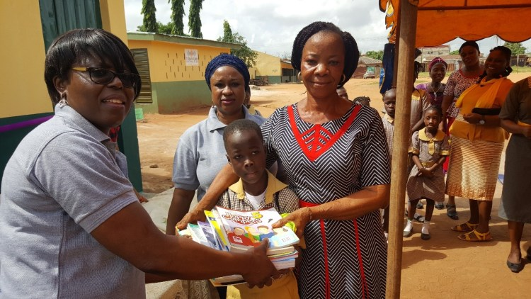 Book donation at the African Church Central School, Ogun State, Nigeria 3
