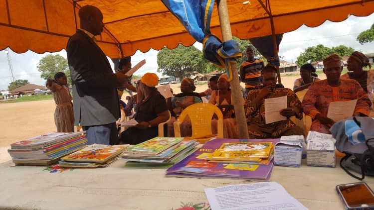 Book donation at the African Church Central School, Ogun State, Nigeria