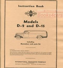 37 40 model d 2 d 15 owners manual by international truck d2 d15 38 int3462 not a shop manual  [ 799 x 1056 Pixel ]