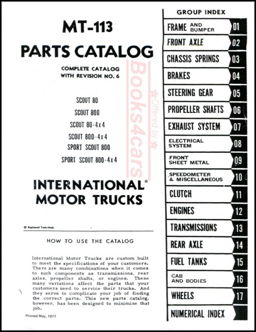 small resolution of 62 69 mt 113 parts catalog manual for scout 80 scout 800 scout 80 4x4 scout 800 4x4 sport scout 800 sport scout 800 4x4 by international 65 9466