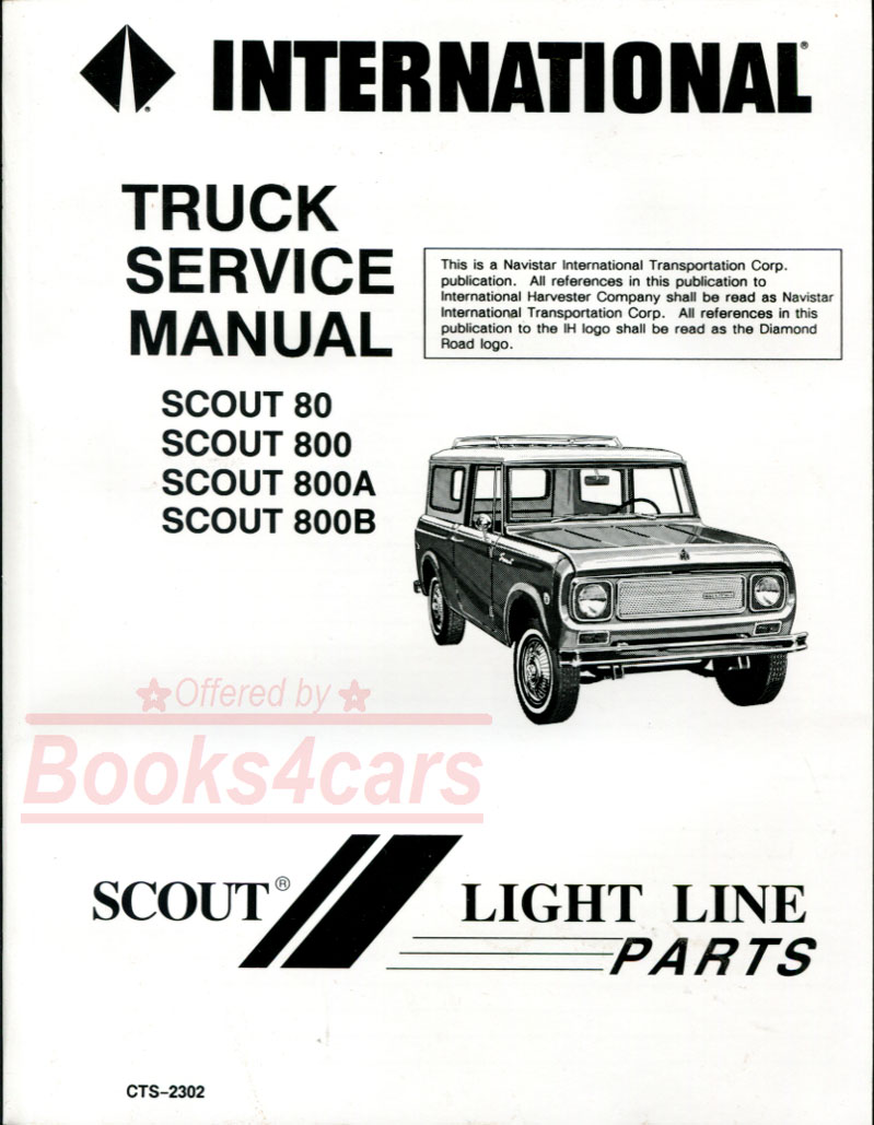 hight resolution of 61 71 scout 80 800 800a and 800b shop service repair manual by international harvester 65 9469