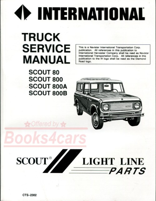 small resolution of 61 71 scout 80 800 800a and 800b shop service repair manual by international harvester 65 9469
