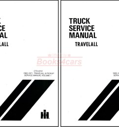 62 71 travelall pickups half ton to one ton shop service repair manual by international 67 9468  [ 1473 x 1056 Pixel ]