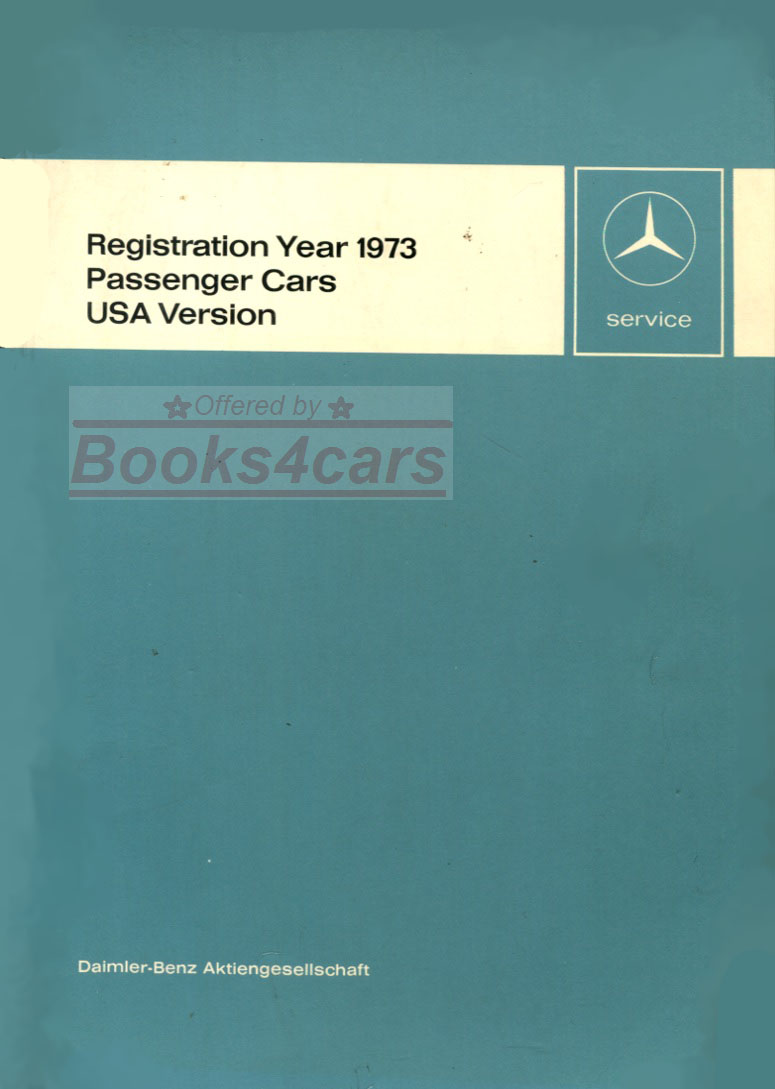 hight resolution of 73 usa new items service technical introduction manual passenger cars by mercedes 73 new svc