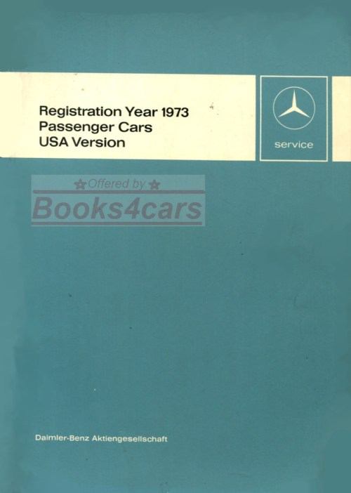 small resolution of 73 usa new items service technical introduction manual passenger cars by mercedes 73 new svc