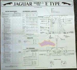 JAGUAR WIRING DIAGRAM XKE E TYPE ELECTRICAL V12 S3 1971