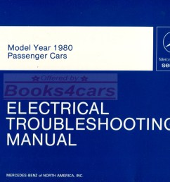 80 electrical troubleshooting shop manual by mercedes for all 1980 models including 450 300 116 123 and more such as 450sl 107 240d 300d 300 cd 300td 300sd  [ 1037 x 785 Pixel ]