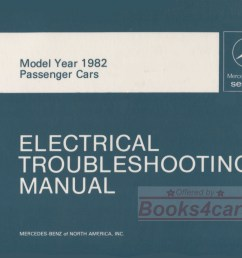 82 electrical troubleshooting shop service repai manual by mercedes for all 1982 models including 380sl 380sel [ 1074 x 850 Pixel ]