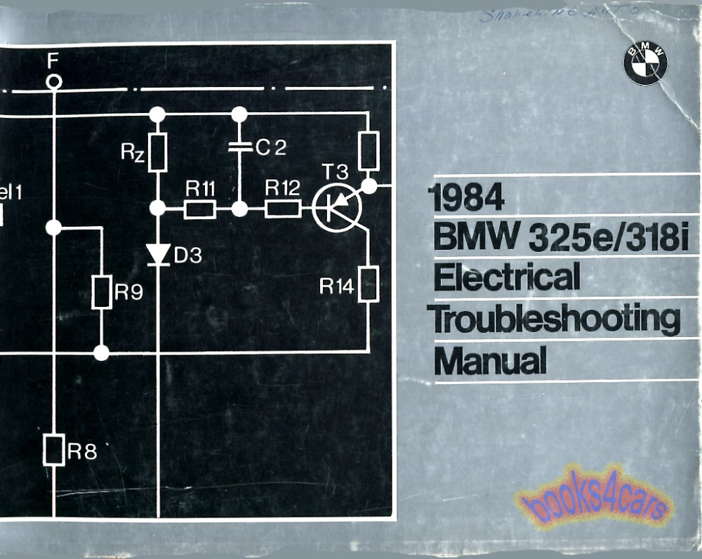 medium resolution of 84 325e 318i electrical troubleshooting manual by bmw 84 01001467800