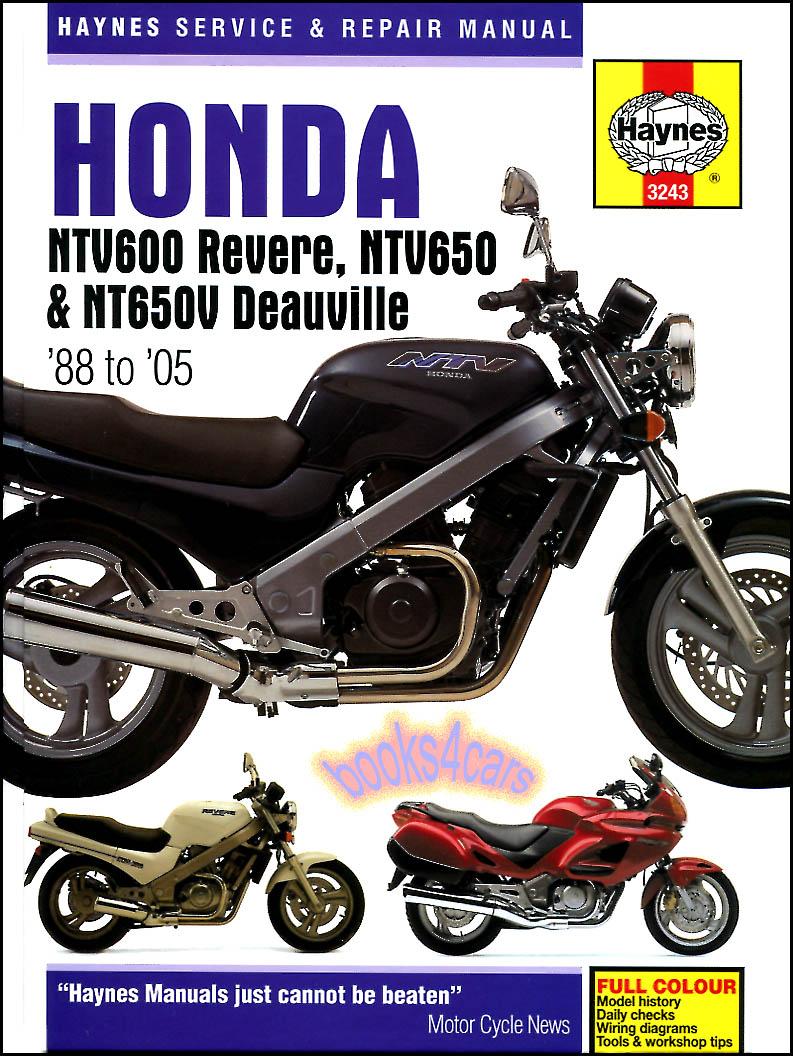 medium resolution of 88 2005 honda ntv600 650 revere ntv650 deauville shop service repair manual by haynes 905 3243