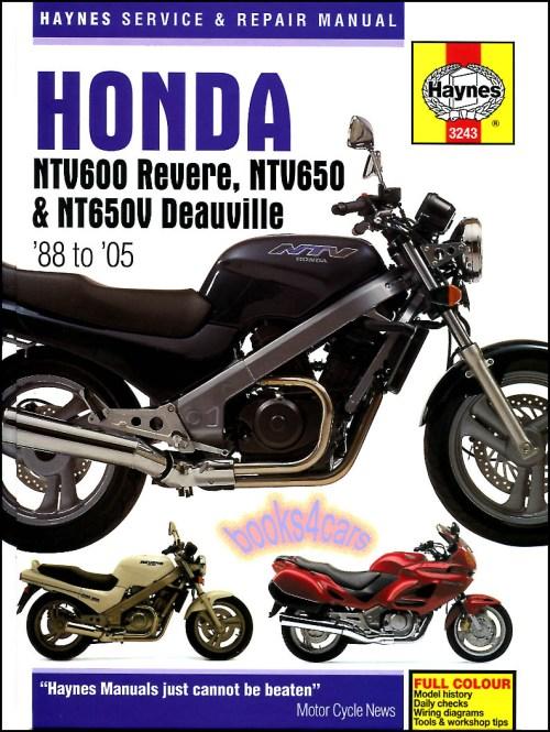 small resolution of 88 2005 honda ntv600 650 revere ntv650 deauville shop service repair manual by haynes 905 3243