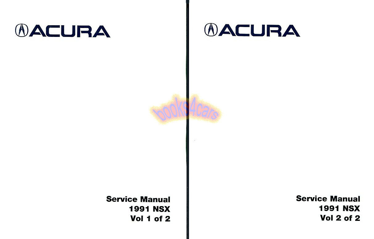 Acura NSX Manuals at Books4Cars.com