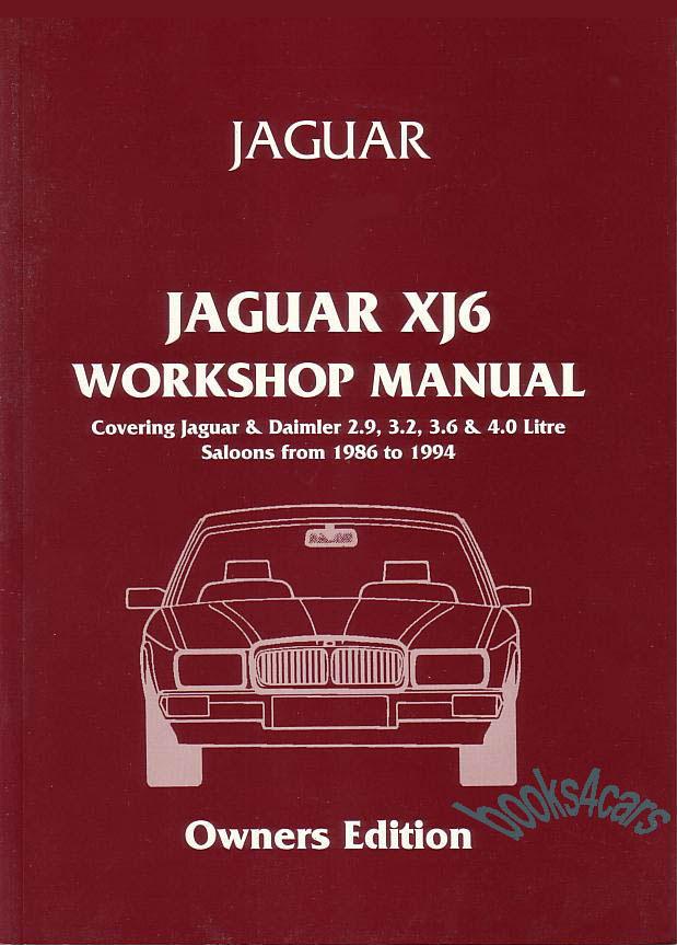 1993 Jaguar Xj6 Electrical Guide Wiring Diagram Original