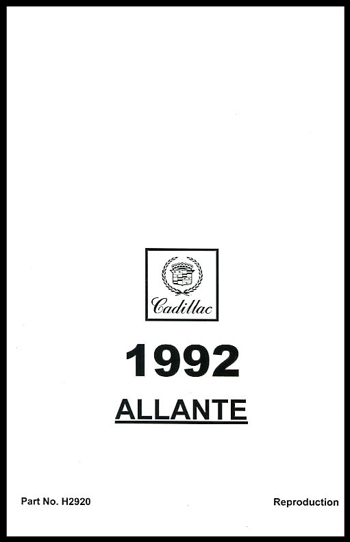 Allante Manuals at Books4Cars.com