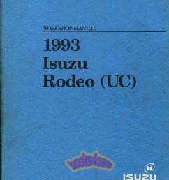 93 rodeo shop service repair manual by isuzu 93 2909930720  [ 800 x 1039 Pixel ]