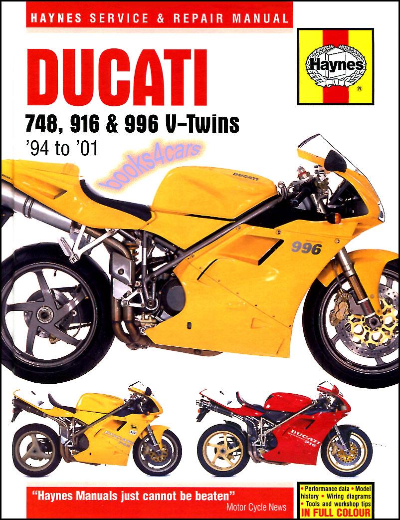 medium resolution of 94 01 ducati 748 916 996 shop service repair manuals by haynes 98 3756