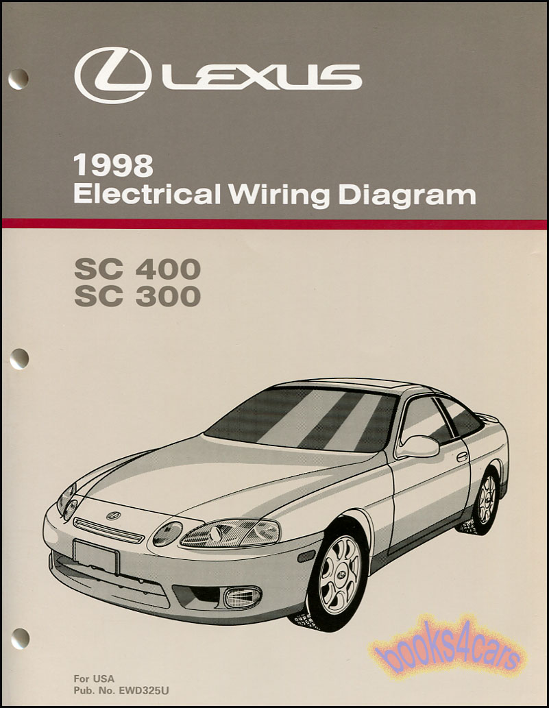 hight resolution of 98 sc400 sc300 electrical wiring diagram shop manual by lexus for sc 400 300
