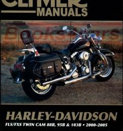 00 05 harley davidson flh flt touring series shop service repair manual by clymer covering flstc flstci hertiage softail classic flstf flstfi fat boy  [ 794 x 1041 Pixel ]