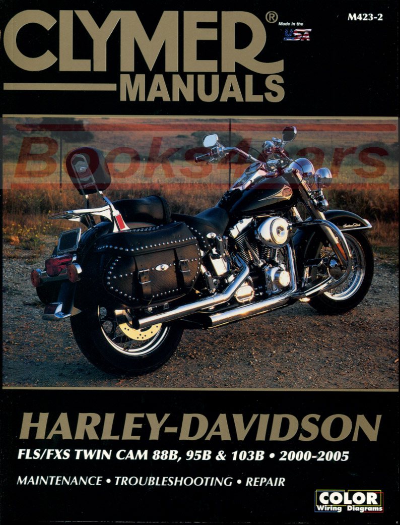 hight resolution of 00 05 harley davidson flh flt touring series shop service repair manual by clymer covering flstc flstci hertiage softail classic flstf flstfi fat boy