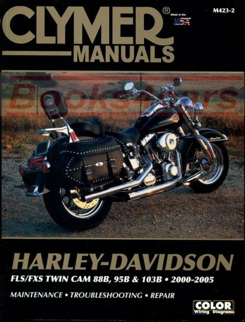 small resolution of 00 05 harley davidson flh flt touring series shop service repair manual by clymer covering flstc flstci hertiage softail classic flstf flstfi fat boy