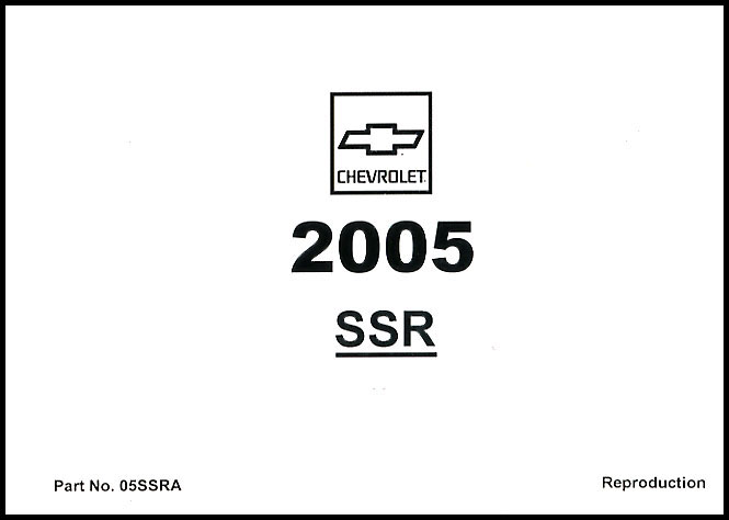 Chevrolet SSR Manuals at Books4Cars.com