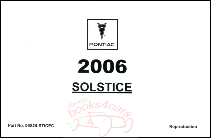 Pontiac Solstice Manuals at Books4Cars.com