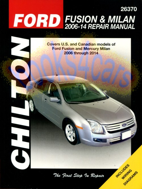 small resolution of 2006 2010 ford fusion mercury milan shop service repair manual by chilton covers all versions except information specific to hybrid models b08 26370ch