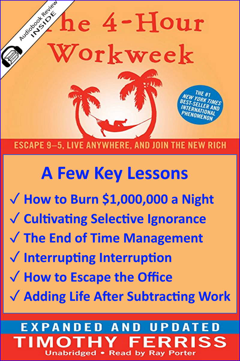 Detailed Book Review - The 4-Hour Workweek: Escape 9-5, Live Anywhere and Join the New Rich (Expanded and Updated) by Timothy Ferriss via @Books4Ears