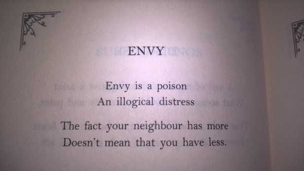 Rumi's poem on envy and jealousy