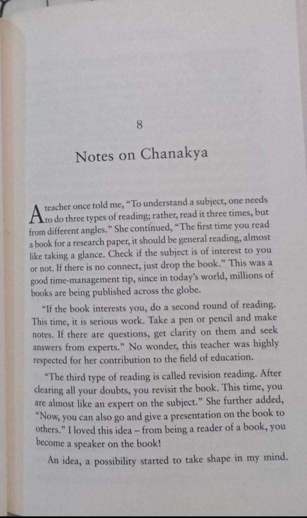 Chanakya's advice on how to read a book