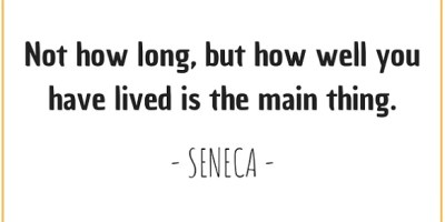 Quote about living well by Seneca