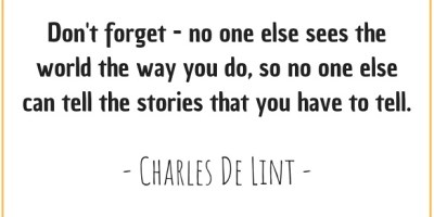 Quote by Charles de Lint about perspective on the world