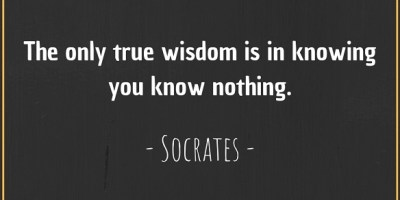 Socrates' quote about wisdom and knowledge.