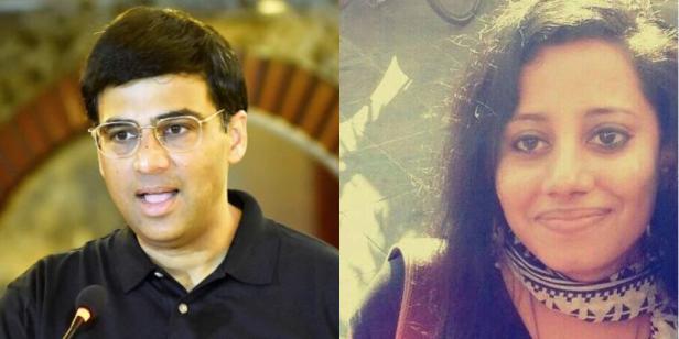 Viswanathan Anand and ESPN Sports Journalist Susan Ninan, authors of Mind Master