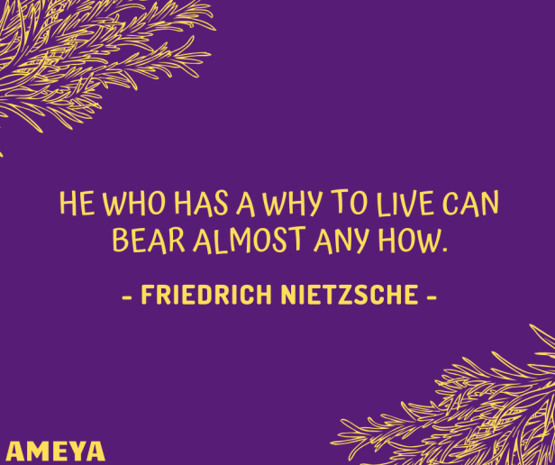 He who has a why to live can bear almost any how. – Friedrich Nietzsche