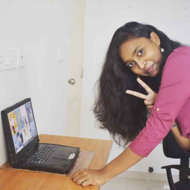 Books became more accessible to Sheeba Eunice as college life beckoned
