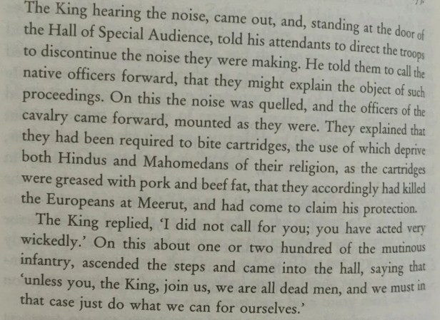 An excerpt from The Last Mughal about how cow and pig-based cartridges caused the Sepoy Mutiny in 1857