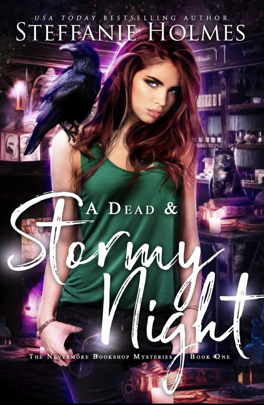 A Dead and Stormy Night *The Nevermore Bookshop Mysteries Book 1* by Steffanie Holmes - A Book Review #BookReview #WhyChoose #RH #SlowBurn #Holmes #Paranormal #Bookstore