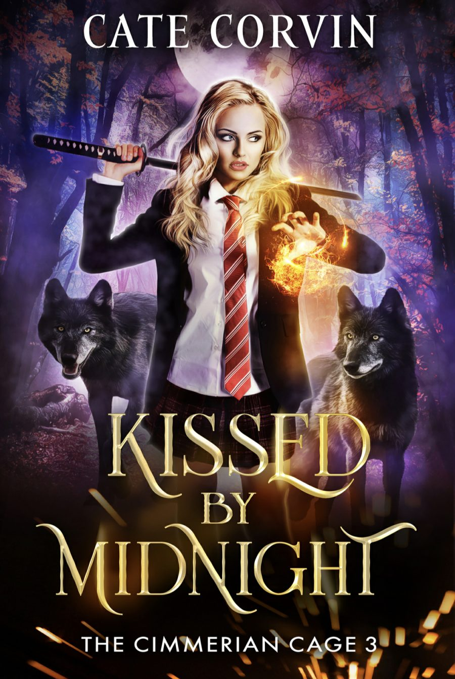 Kissed by Midnight by Cate Corvin - A Book Review #BookReview #MediumBurn #RH #ReverseHarem #WhyChoose #Academy #PNR #HEA #4Star #KindleUnlimited #KU
